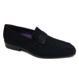 03. BLACK GLASS BEAD STRAP SLIP ON SHOE Thumbnail