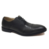 09. GREY CAP TOE DETAILING LACE UP DRESS SHOE Thumbnail
