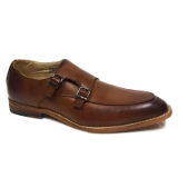 08. COGNAC SLIP ON SHOE WITH TWO BUCKLES Thumbnail