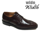 23. BROWN WIDE WINGTIP DETAILING LACE UP SHOE Thumbnail