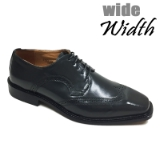 21. GREY WIDE WINGTIP DETAILING LACE UP SHOE Thumbnail