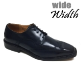 22. NAVY WIDE WINGTIP DETAILING LACE UP SHOE Thumbnail