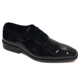 01. BLACK PATENT/VELVET LACE UP FORMAL SHOE Thumbnail