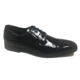 03. BLACK CAP TOE LACE UP DRESS SHOE Thumbnail