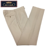 10. CARLO LUSSO TAN SOLID FLAT FRONT PANTS Thumbnail