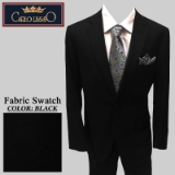 01. BLACK SOLID 2 PIECE 2-BUTTON SUIT Thumbnail