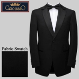 01. BLACK SOLID SATIN NOTCH LAPEL REGULAR FIT Thumbnail