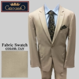 11. TAN SOLID 2 PIECE 2-BUTTON SUIT Thumbnail