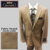 09. CAMEL SOLID 2 PIECE 2-BUTTON SUIT Thumbnail