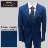 06. FRENCH BLUE SOLID 2 PIECE 2-BUTTON SUIT Thumbnail