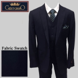 52. NAVY SOLID VESTED 2-BUTTON SUIT Thumbnail