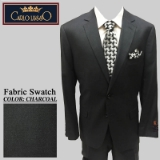 02. CHARCOAL SOLID 2 PIECE 2-BUTTON SUIT Thumbnail