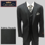 50. CHARCOAL SOLID VESTED 2-BUTTON SUIT Thumbnail