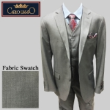 51. LIGHT GREY SOLID VESTED 2-BUTTON SUIT Thumbnail