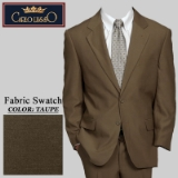 08. TAUPE SOLID 2 PIECE 2-BUTTON SUIT Thumbnail