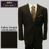 07. BROWN SOLID 2 PIECE 2-BUTTON SUIT Thumbnail