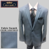 43. LIGHTBLUE SHARKSKIN 2 PIECE 2-BUTTON Thumbnail