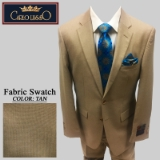 47. TAN SHARKSKIN 2 PIECE 2-BUTTON SUIT Thumbnail