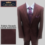 45. BURGUNDY SHARKSKIN 2 PIECE 2-BUTTON Thumbnail