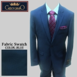37. BLUE TIC WEAVE 2 PIECE 2-BUTTON SUIT Thumbnail
