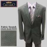 22. BLACK/WHITE MINI CHECK 2PC 2-BUTTON SUIT Thumbnail