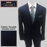 32. NAVY TEXTURED PATTERN 2 PIECE 2-BUTTON Thumbnail