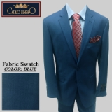 40. BLUE HERRINGBONE 2 PIECE 2-BUTTON SUIT Thumbnail