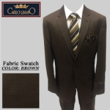 46. BROWN TIC WEAVE 2 PIECE 2-BUTTON SUIT Thumbnail