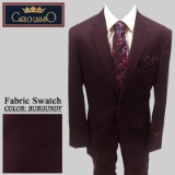 44. BURGUNDY CREPE 2 PIECE 2-BUTTON SUIT Thumbnail