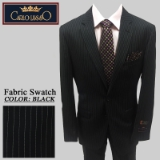 16. BLACK PINSTRIPE 2 PIECE 2-BUTTON SUIT Thumbnail