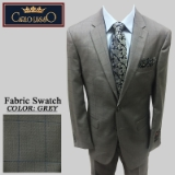 23. GREY/BLUE PLAID 2 PIECE 2-BUTTON SUIT Thumbnail
