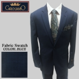 36. BLUE WINDOWPANE 2 PIECE 2-BUTTON SUIT Thumbnail