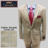 48. TAN/BLUE PLAID 2 PIECE 2-BUTTON SUIT Thumbnail