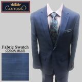 39. BLUE TONAL PLAID 2 PIECE 2-BUTTON SUIT Thumbnail