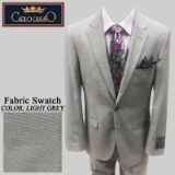 26.LIGHT GREY TIC WEAVE 2 PIECE 2-BUTTON SUIT Thumbnail
