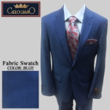 38. BLUE TIC WEAVE 2 PIECE 2-BUTTON SUIT Thumbnail