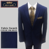 34. INK BLUE CHECK 2 PIECE 2-BUTTON SUIT Thumbnail