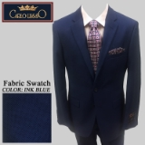 33. INK BLUE BIRDEYE 2 PIECE 2-BUTTON SUIT Thumbnail