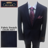 30. NAVY/BLUE CHECK 2 PIECE 2-BUTTON SUIT Thumbnail