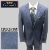 41. SKY BLUE CHECK 2 PIECE 2-BUTTON SUIT Thumbnail