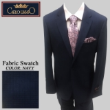 31. NAVY MINI CHECK 2 PIECE 2-BUTTON SUIT Thumbnail
