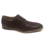 13. COGNAC WINGTIP DETAIL LACE UP DRESS SHOE Thumbnail