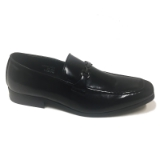 06. BLACK HORSEBIT BUCKLE SLIP ON DRESS SHOE Thumbnail