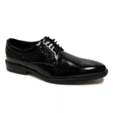 04. BLACK PLAIN SIDE DETAILING LACE UP SHOE Thumbnail