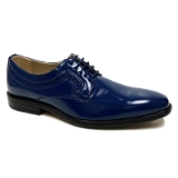 12. BLUE PLAIN SIDE DETAILING LACE UP SHOE Thumbnail