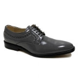08. GREY PLAIN SIDE DETAILING LACE UP SHOE Thumbnail