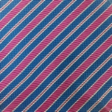 C078. BLUE/PURPLE STRIPE TIE & HANKY SET Thumbnail