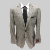 65. MANTONI WOOL LIGHT GREY PLAID SPORTCOAT Thumbnail
