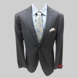 49.MANTONI WOOL INK BLUE/GREY CHECK SPORTCOAT Thumbnail