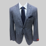 63. MANTONI WOOL FRENCH BLUE CHECK SPORTCOAT Thumbnail